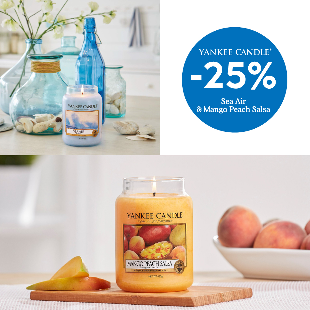 Sea Air e Mango Peach Salsa Yankee Candle